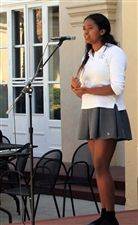 Laila gracing the community with song during a recent Tunes@Noon