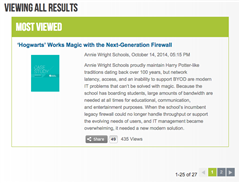 Annie Wright's Firewall Solution was Palo Alto Networks' most viewed case study in November