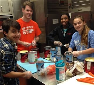 Students prepare, deliver food and smiles to City's homeless
