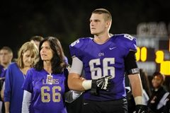 Congratulations to CPA's lineman, senior Parker Howell, a finalist for The Tennessee Titans Mr. Football Award. Pictured on senior recognition night with mother Vicki Howell.