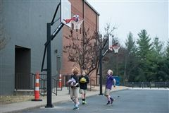 CPA Annual Fund has installed new outdoor basketball goals for the Physical Education department.