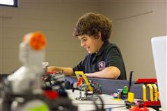 CPA's Lego Lions team advances to the state tournament in February 2015.
