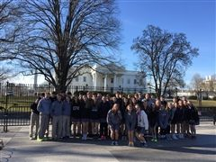 Students outside of The White House in D.C.