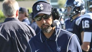 Mazi Moayed is starting his fourth season as Marin Catholic of Kentfield head football coach. Photo courtesy Bill Schneider/VarsityPix.
